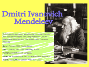 Dmitri Mendeleev Quotes about chemistry || How did Dmitri Mendeleev contribute to the atomic theory?