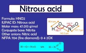 Nitrous Acid: Preparation, Formula, uses, Solubility | Is nitrous acid dangerous?