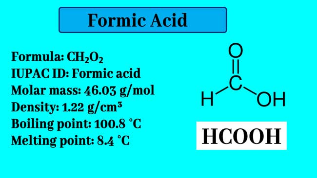 Formic Acid Structure and formula