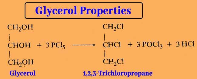 Glycerol and trichloro propane