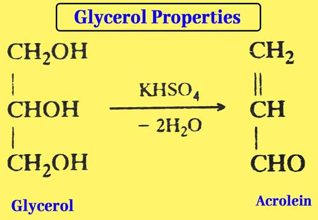 glycerol Acrolein