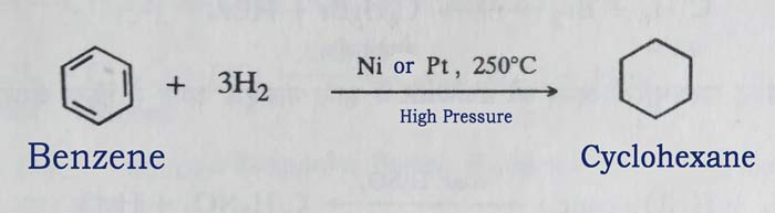 Benzene to Cyclohexane