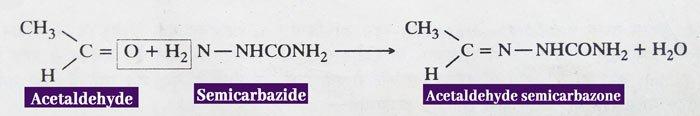 Aldehydes and ketones semicarbazide