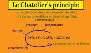 What is Le Chatelier's principle in chemistry? Temperature and pressure effect