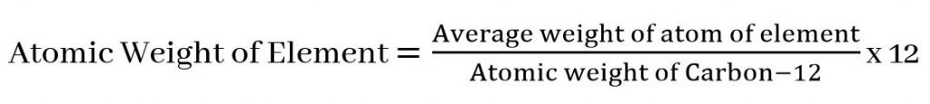 Atomic mass of element