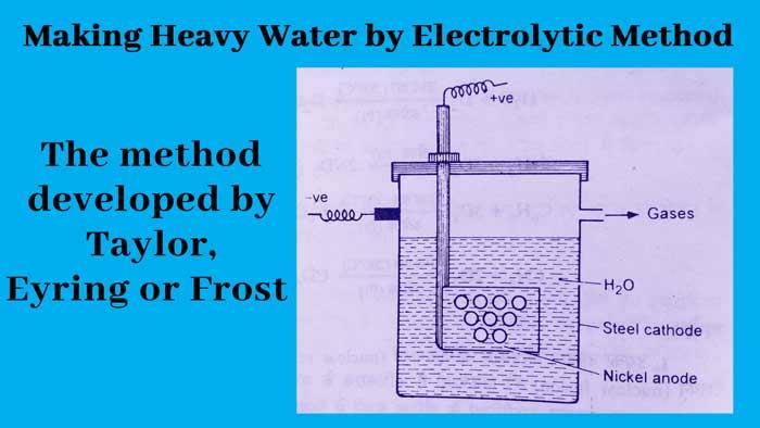 Making heavy water by Electrolytic-method