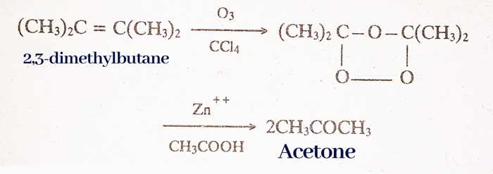 Ozonisation-Ketone